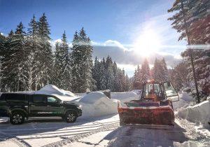 Schneeräumung mit JCB Fastrac