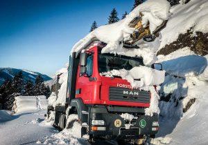 Mounty 4000 Wintereinbruch in der Steiermark