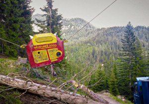 Woodliner 3000 Bergabseilung