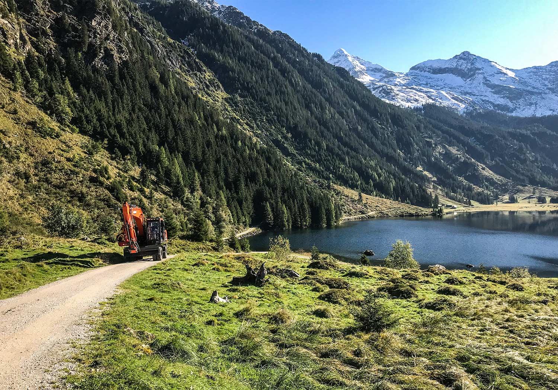 Doosan Forstbagger am Riesachsee in der Steiermark